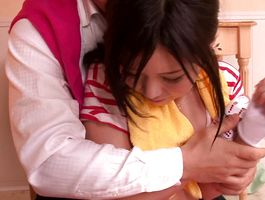 Cheerful playgirl Marin Natsukaze has a sweet and tender fuck with her buddy