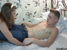 Fleshly girlie Rose is fucking lover like a real wench in the middle of the day