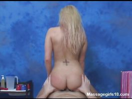 Cheerful golden-haired Megan Moore makes a sexy posing and supplicates for hardcore