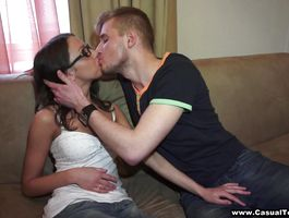 Enticing minx Foxy Di gets super excited when boyfriend begins licking her tits the way she can't live without a lot