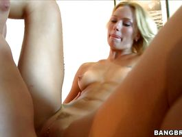 Dissolute barely legal blond JC Simpson needs a ramrod in her sexy mouth