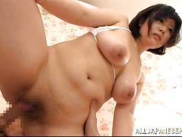 Prodigious Kotone Nishida with huge tits got doggy styled and she actually liked it