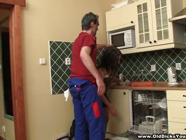 Wonderful Jenny can't live without to fuck man while in his new apartment