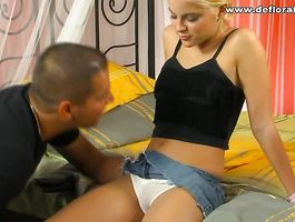 Racy blond slut Lala Princess gives a sloppy cock sucking session