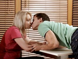 Aroused young Patricia is passionately fucking her depraved fucker