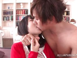 Lewd Yui Azuchi has her fake knockers squeezed previous to being drilled
