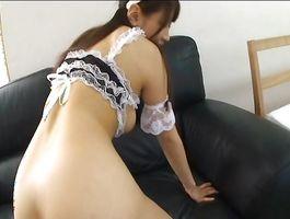 Succulent breasty Buruma Aoi rides a massive cock wildly