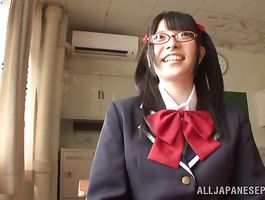 Charming Ai Uehara gets intensely spooned