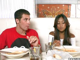 Prodigious young bimbo Kina Kai is gently sucking dude's meaty meat