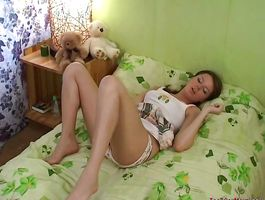 Lovely Anna B. gets her pussy plowed by a large weenie