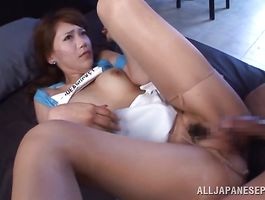 Curvaceous honey Ria Horisaki always needs her daily dose of a rock hard chili dog